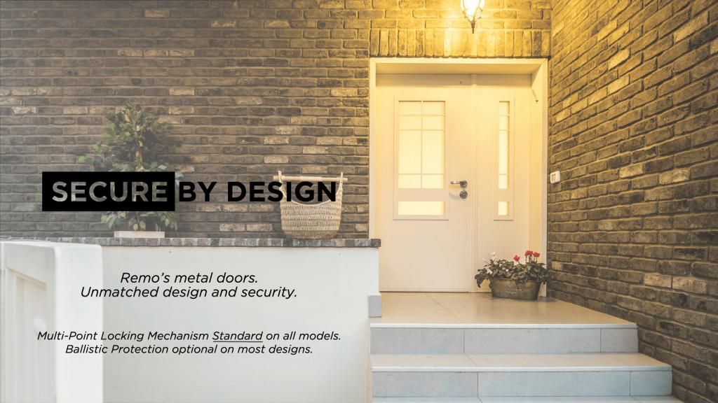 designed entry door with multi point locking mechanism standard
