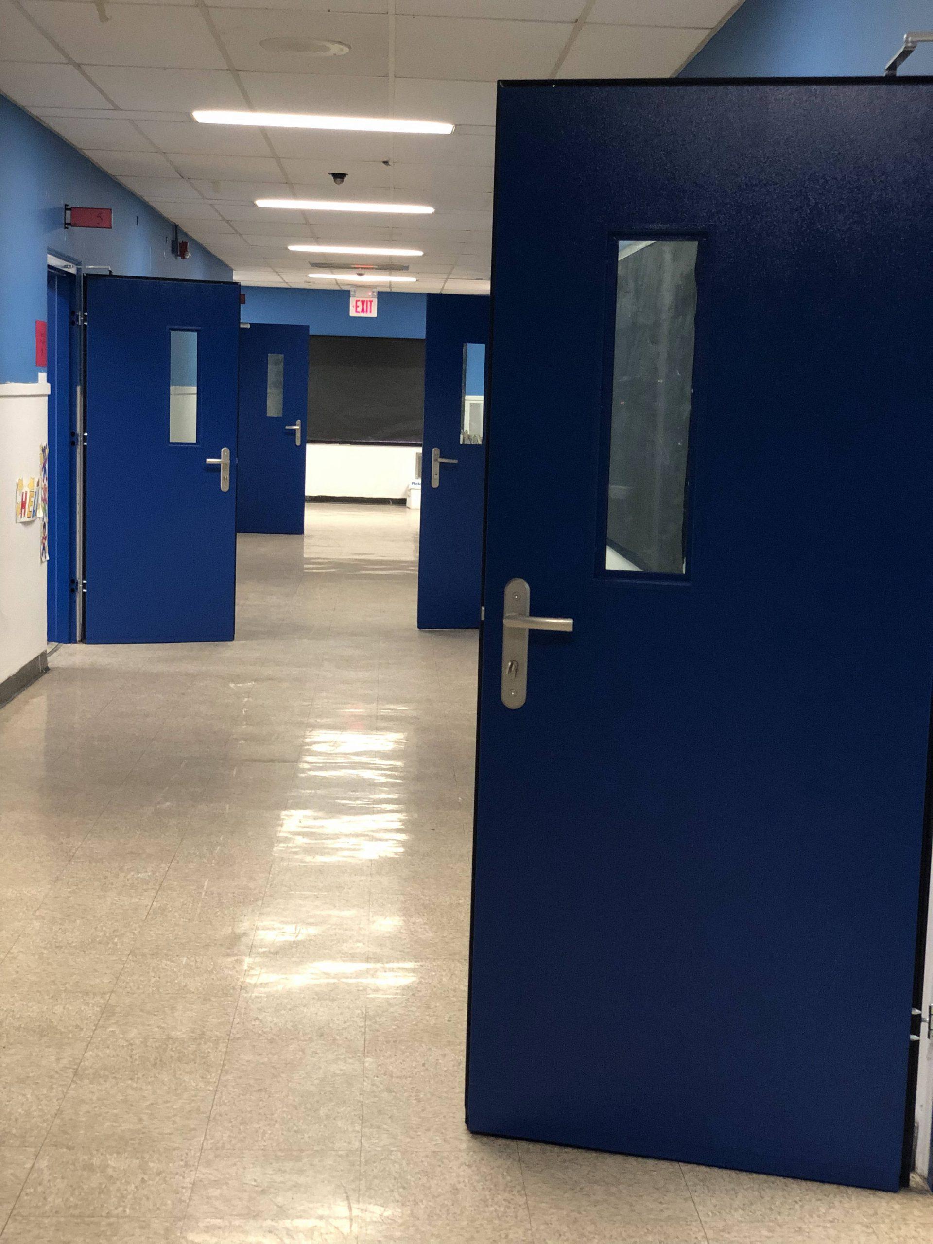 local school district buying hundreds of bullet resistant door